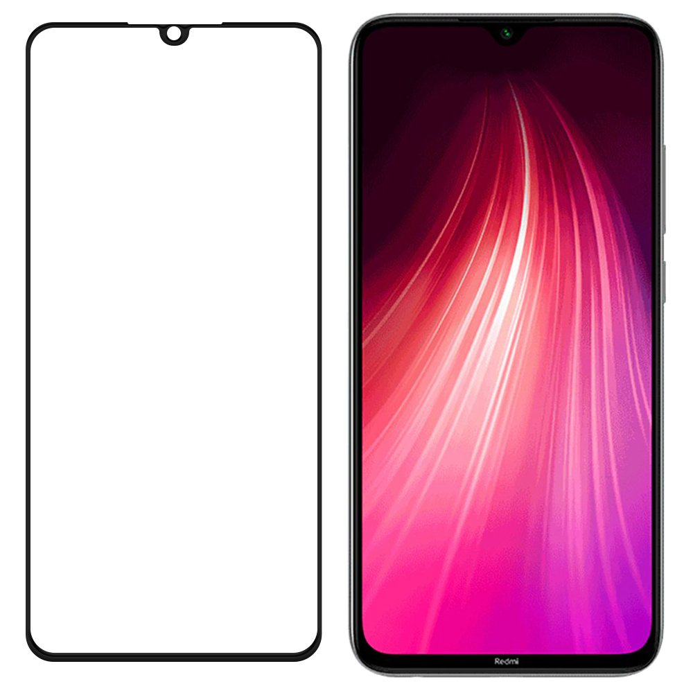 Celoplošné temperované tvrzené sklo 9H pro Xiaomi Redmi Note 8 / Redmi Note 8T black