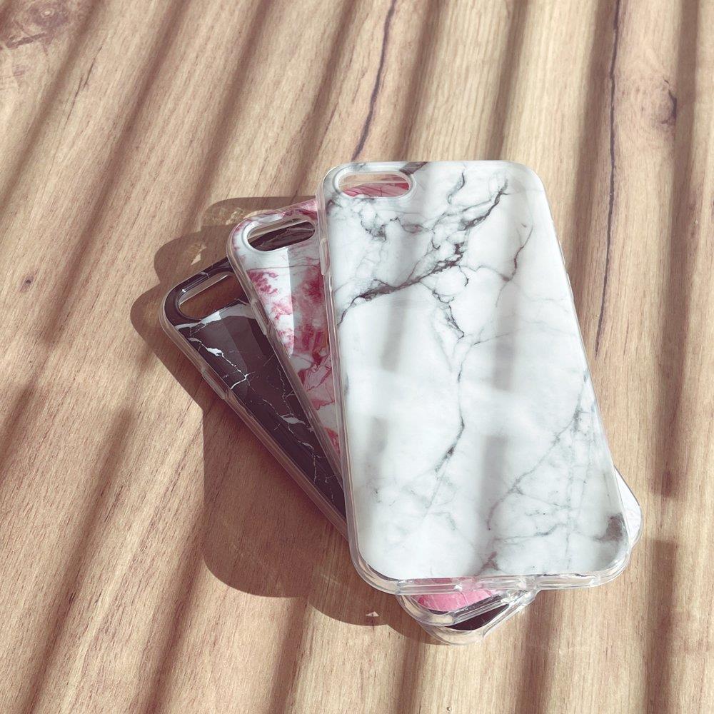 Wozinsky Marble silikonové pouzdro pro iPhone 8 / iPhone 7 black