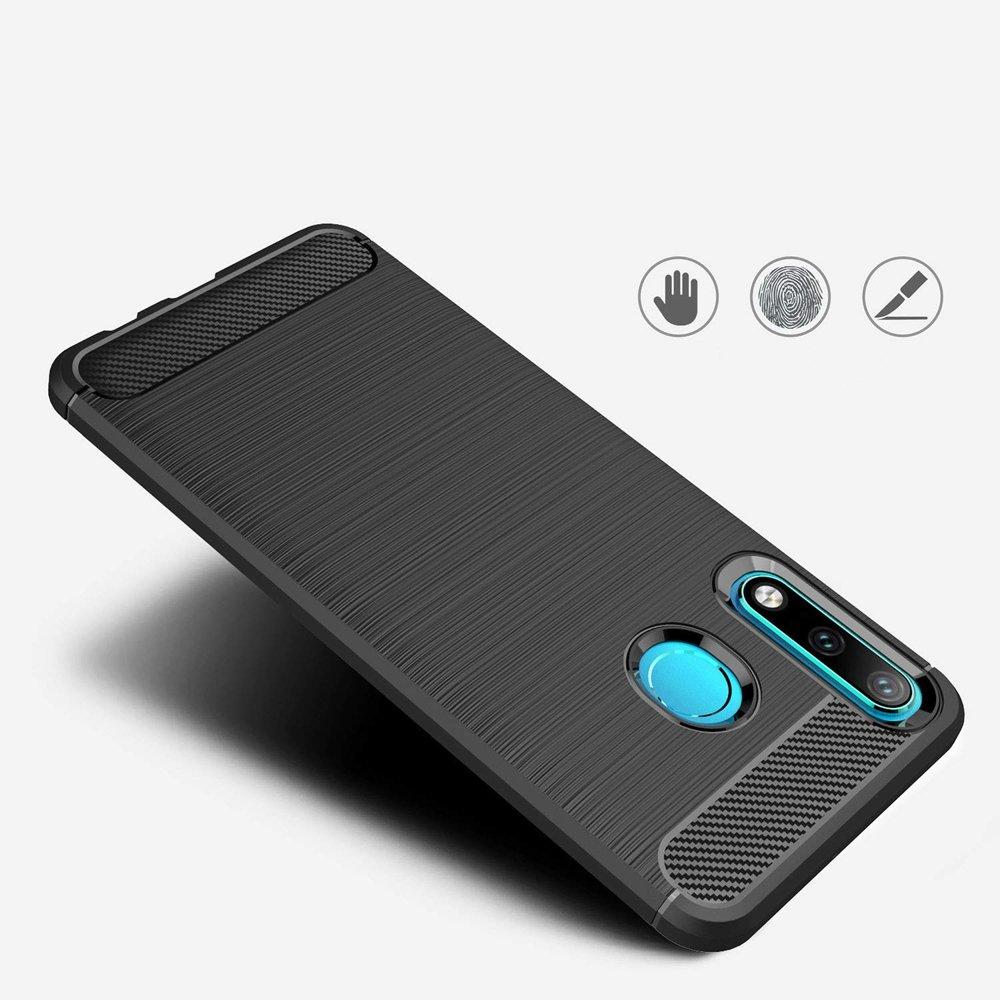 Carbon silikonové pouzdro Huawei P30 Lite blue