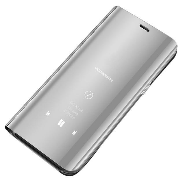 Knížkové pouzdro Samsung Galaxy A40 silver s průhlednou přední stranou