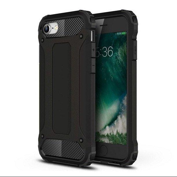 Hybrid pancéřové polykarbonátové pouzdro na iPhone SE 2020 / iPhone 8 / iPhone 7 black
