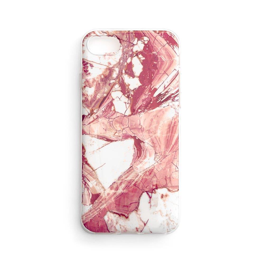 Wozinsky Marble silikonové pouzdro pro iPhone 8 / iPhone 7 pink
