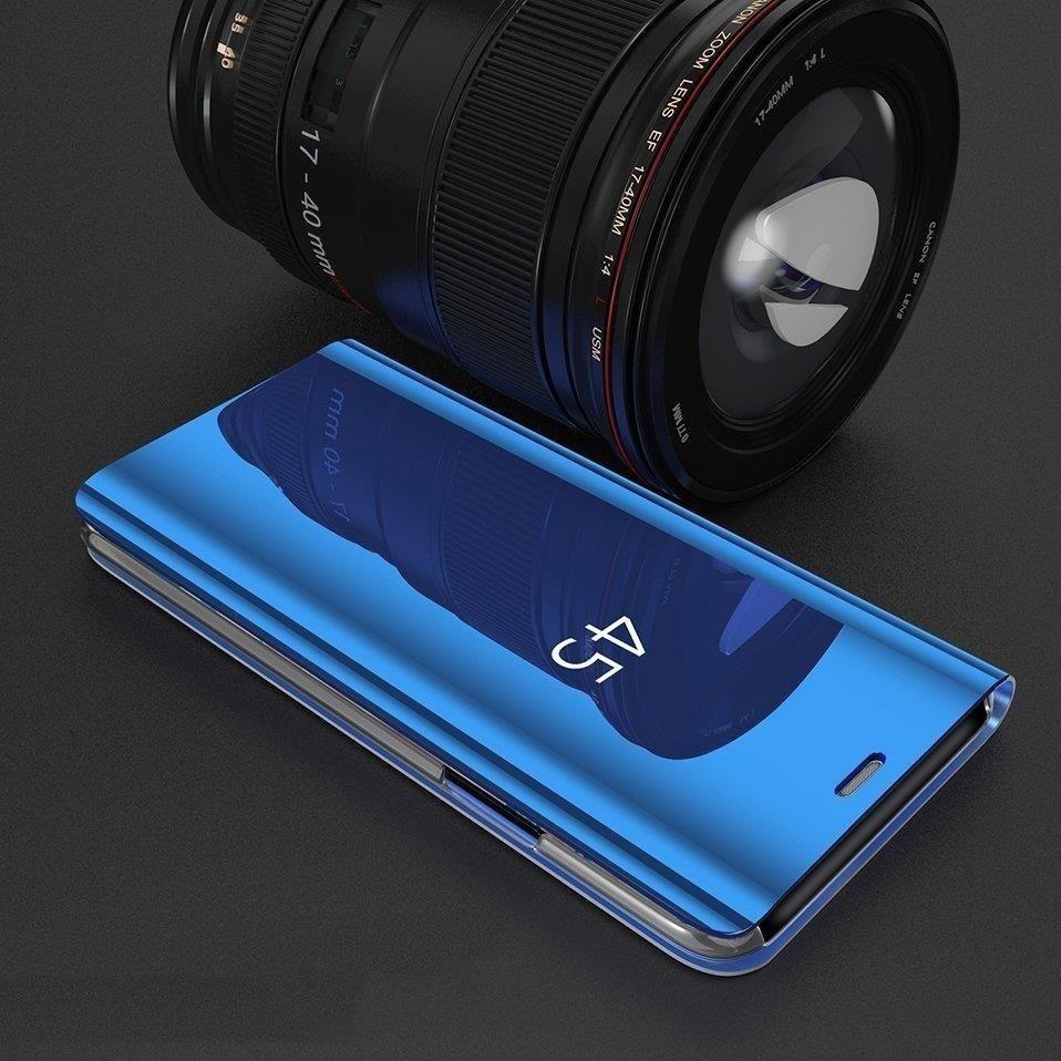 Knížkové pouzdro na Samsung Galaxy A40 gold s průhlednou přední stranou