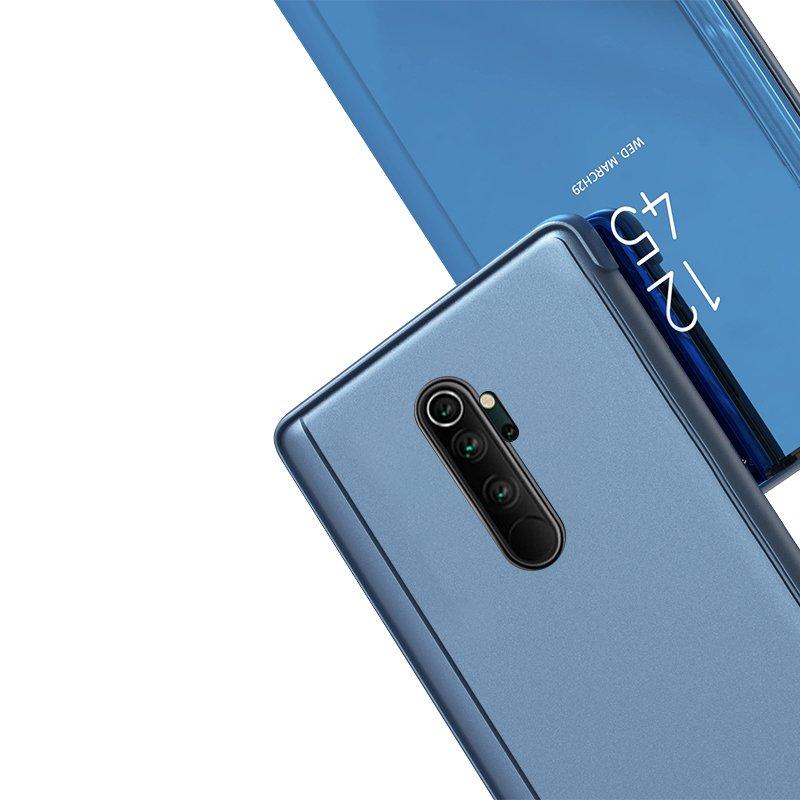 Knižkove púzdro pre Xiaomi Mi Note 10 / Mi Note 10 Pro / Mi CC9 Pro blue s priehľadnou prednou stranou