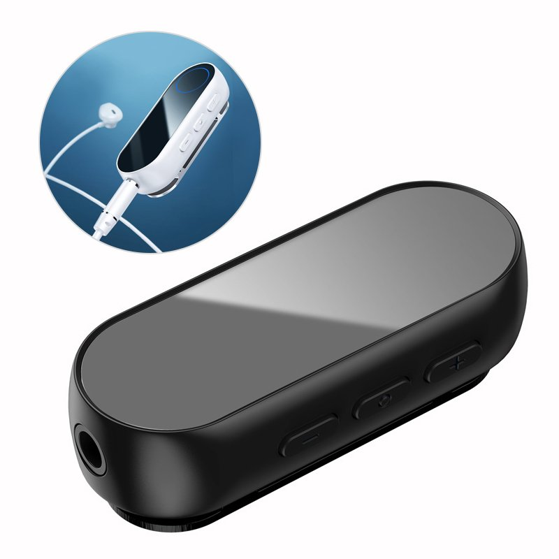 Adaptor audio Bluetooth wireless Baseus BA02 mini jack jack AUX mini negru (NGBA02-01) Ex-display