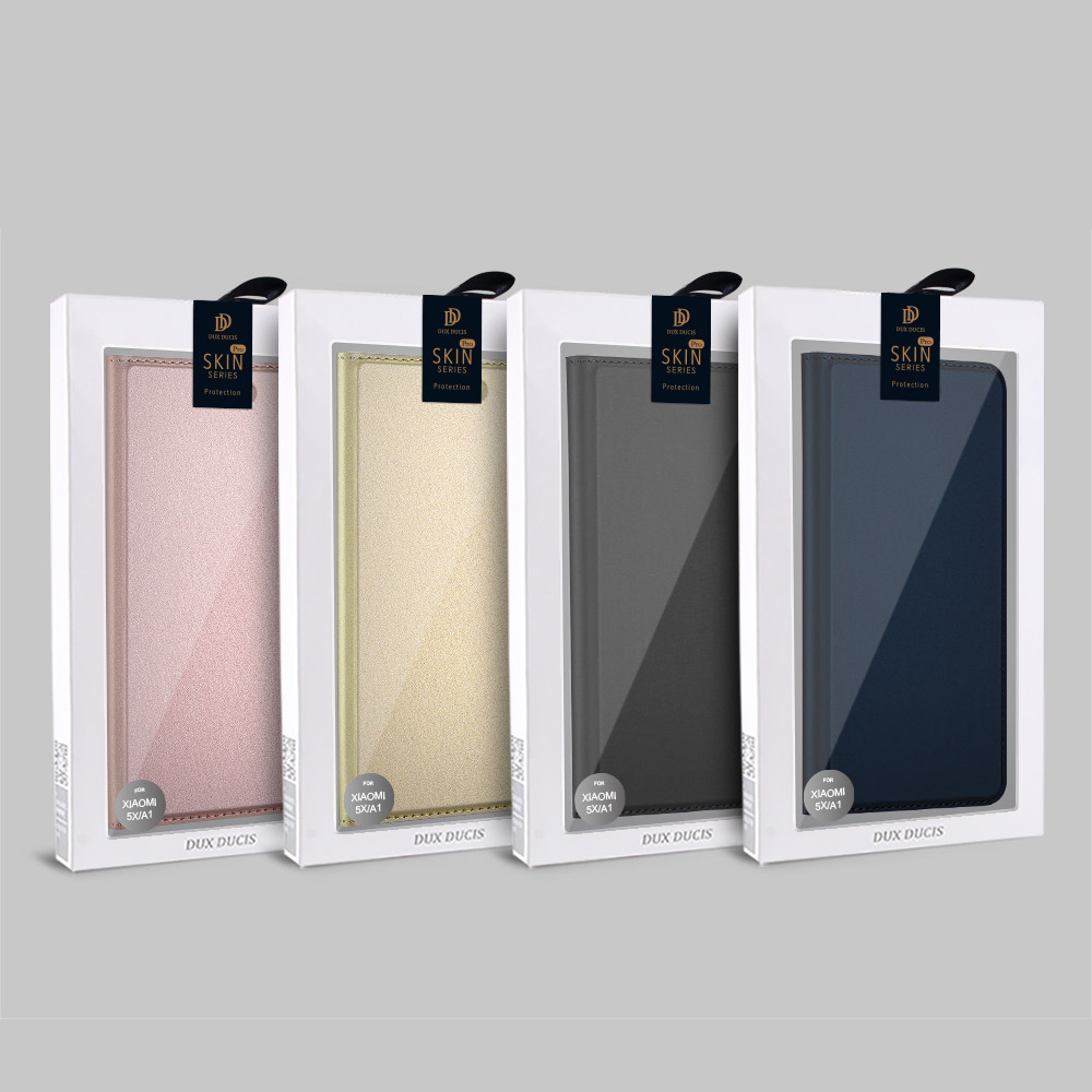 DUX DUCIS Skin knížkové púzdro pre iPhone SE 2020 / 8 / 7 golden