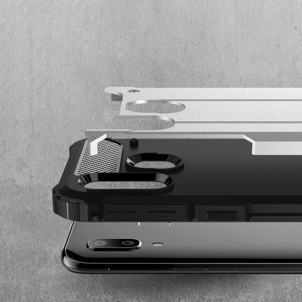 Hybrid polykarbonátové pouzdro Samsung Galaxy A40 silver