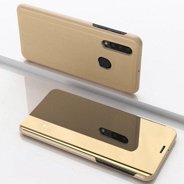 Knížkové pouzdro Samsung Galaxy A50 golden s průhlednou přední stranou
