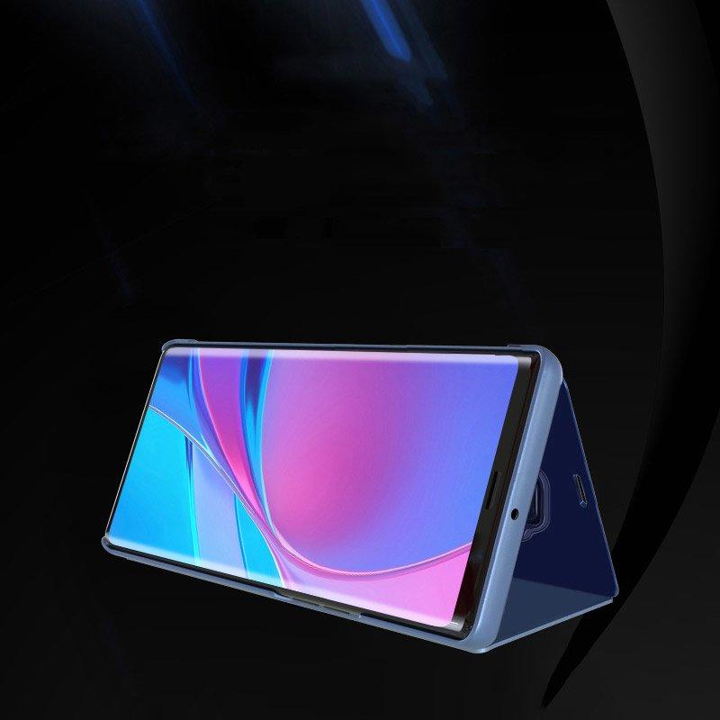 Knižkove púzdro pre Huawei Mate 30 Lite blue s priehľadnou prednou stranou