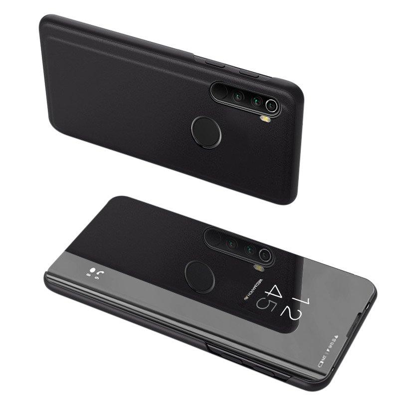 Knížkové pouzdro na Xiaomi Redmi Note 8T black s průhlednou přední stranou