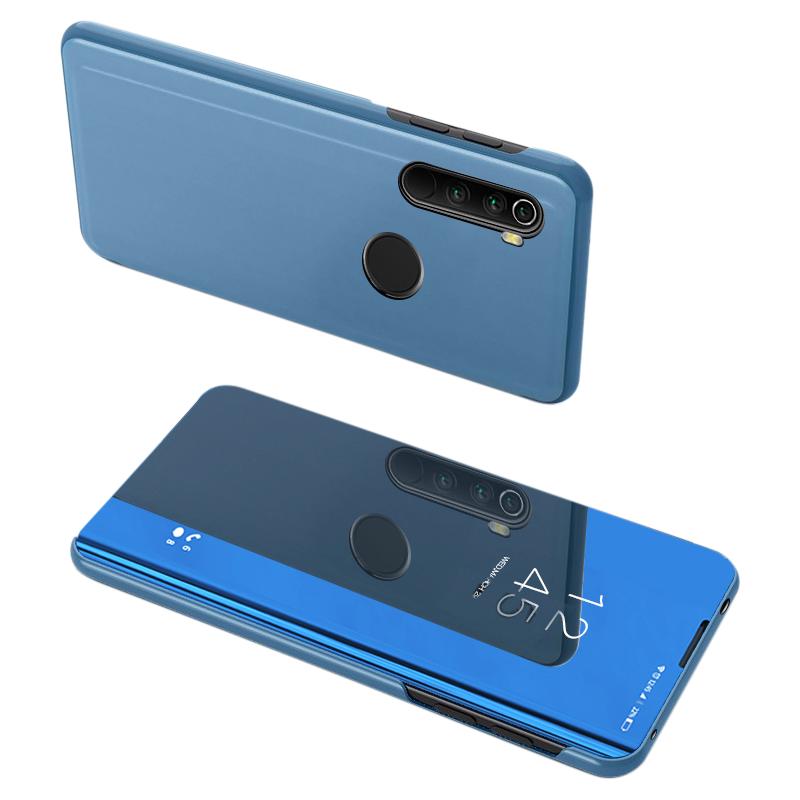 Knížkové pouzdro na Xiaomi Redmi Note 8T blue s průhlednou přední stranou