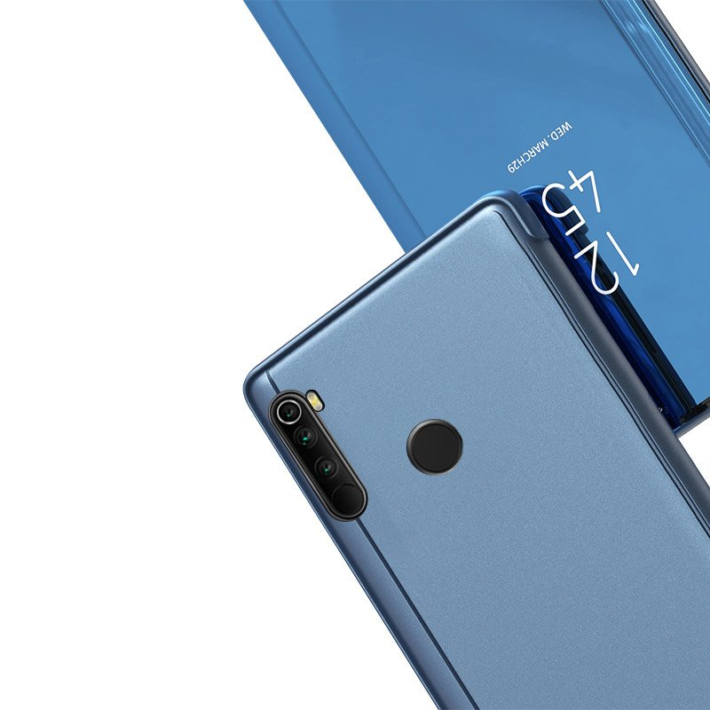 Knižkove púzdro pre Xiaomi Note 8T blue s priehľadnou prednou stranou