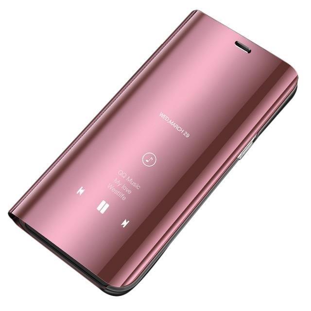 Knížkové pouzdro na Huawei P30 Lite pink s průhlednou přední stranou