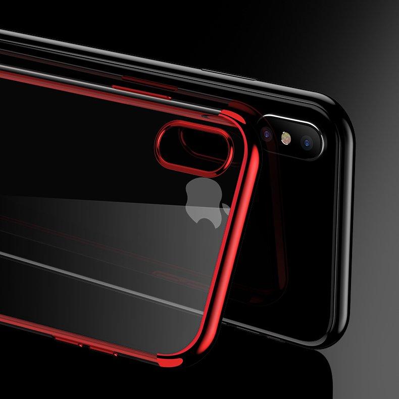Color Electroplating silikonové pouzdro Samsung Galaxy A70 black