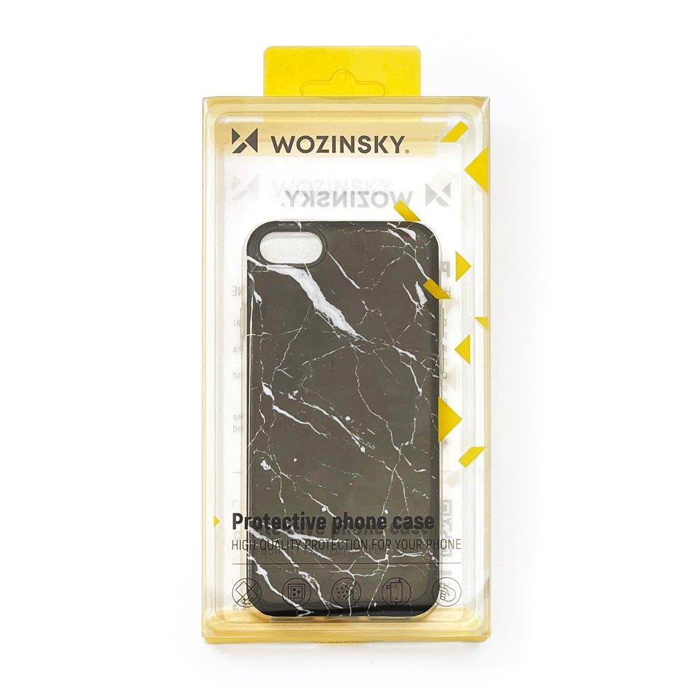 Wozinsky Marble silikonové pouzdro pro Huawei P30 Lite black