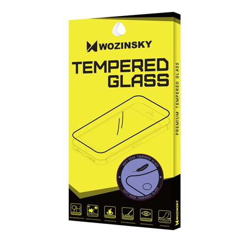 Wozinsky Tempered Glass Screen Protector Full Coveraged with Soft Frame for Samsung Galaxy J7 2017 J730 black