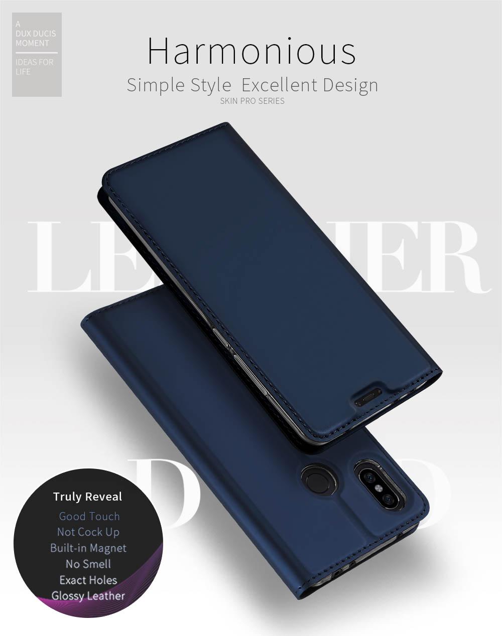 DUX DUCIS Skin Pro Bookcase type case for Xiaomi Mi A2 Lite / Redmi 6 Pro  blue