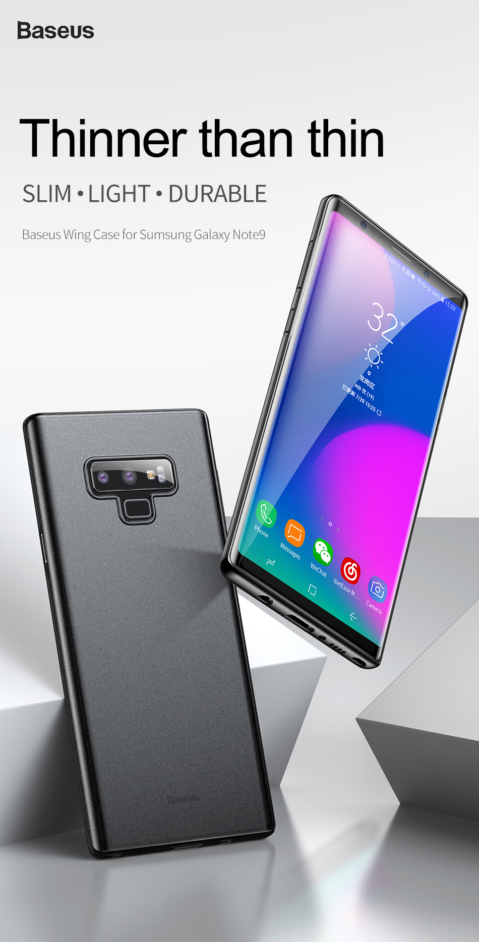 Baseus Wing Case Ultra Thin Lightweight Pp Cover For Samsung Galaxy Sky Oneplus One Additional Features Oleophobic Coating