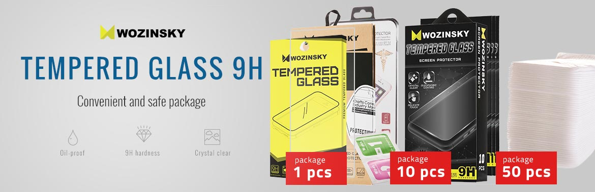 Tempered Glass 9H - Convinient and safe package