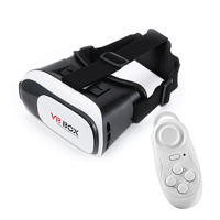 Virtual reality VR Box 2 glasses + Bluetooth remote control for smartphone 3D gogle black