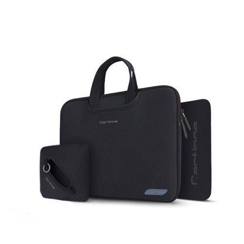 "Laptop Bag 15,4"" Inch Charger Case and Mouse Pad Cartinoe Breath Series Black"