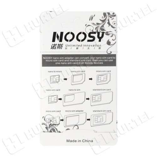 Noosy Adapter Nano Micro Sim 3in1 iPhone Set