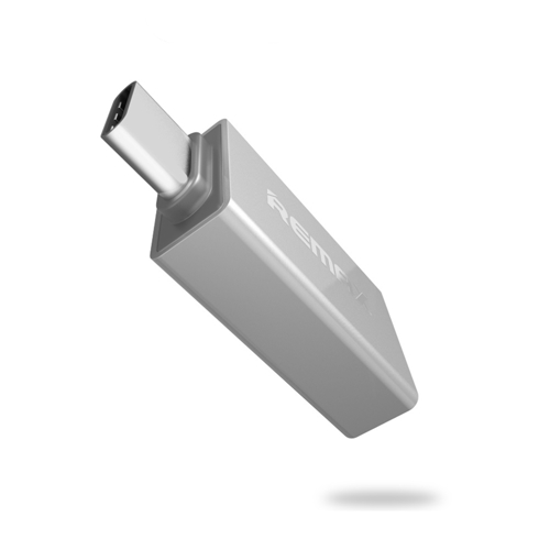 OTG host adapter USB 3.0 - USB Type C Remax silver