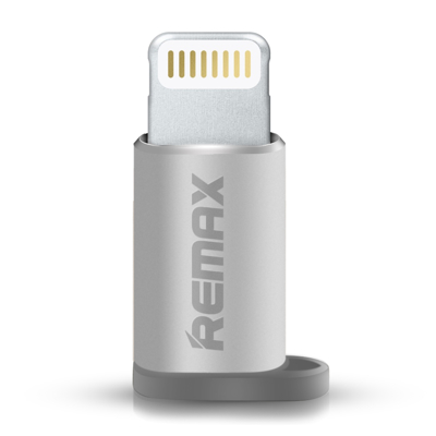 Micro USB to Lightning adapter Remax silver
